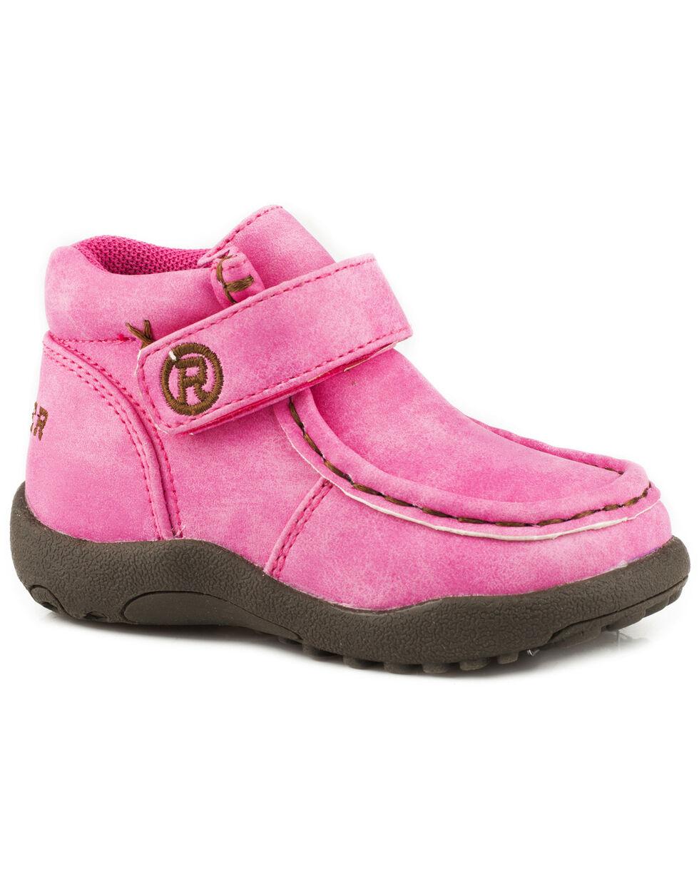 Roper Toddler Girls' Moc Pink Faux Leather Chukkas - Moc Toe, Pink, hi-res