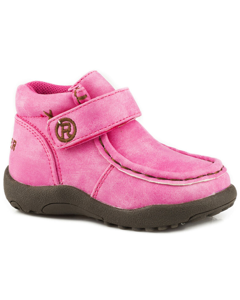 Roper Toddler Girls' Moc Pink Faux Leather Chukkas - Moc Toe, Pink, hi-res