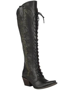 Junk Gypsy by Lane Women's Trail Boss Western Boots - Snip Toe, Black, hi-res