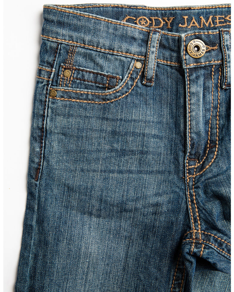 Cody James Boys' Bozeman Stretch Slim Bootcut Jeans - Little , Blue, hi-res