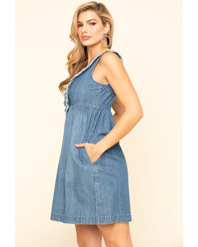 Stetson Women's Denim Ruffle Tank Dress, Blue, hi-res
