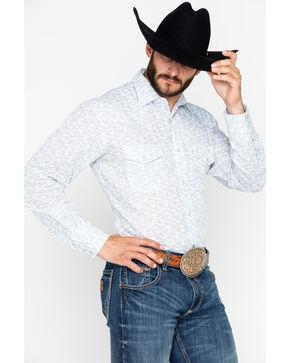 Roper Men's Floral Print Snap Long Sleeve Shirt , Blue, hi-res