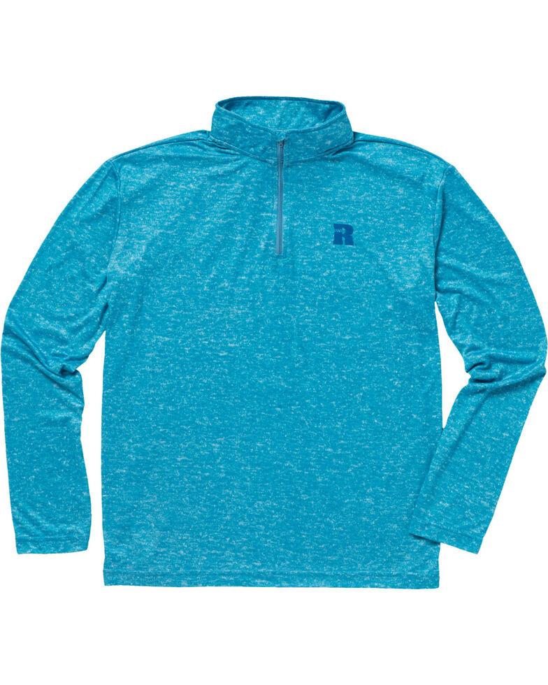 Wrangler Men's Olive Riggs Workwear 1/4 Zip Pullover Shirt - Big & Tall , Bright Blue, hi-res