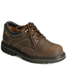 Caterpillar Ridgemont Oxford Work Shoes - Steel Toe, Dark Brown, hi-res