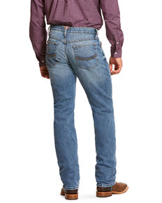 Ariat Men's M4 Sawyer Low Stretch Stackable Straight Jeans , Blue, hi-res