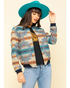 Pendleton Women's Wool Aztec Bomber Jacket, Multi, hi-res