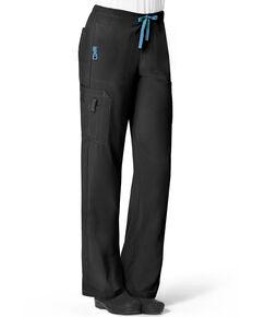 Carhartt Women's Utility Flex Cargo Scrub Pants, Black, hi-res