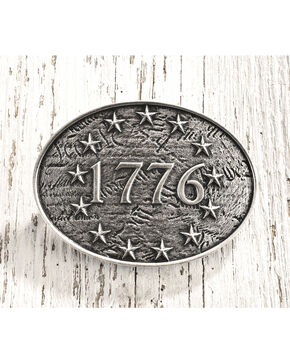 Cody James Men's Antique Silver 1776 Belt Buckle, Silver, hi-res