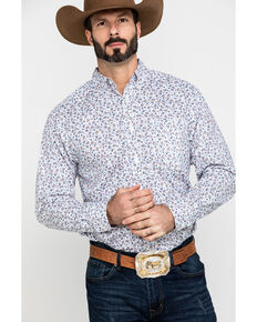 Ariat Men's Lafayette Floral Geo Print Long Sleeve Western Shirt , White, hi-res