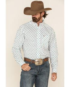 Ariat Men's Ollie Aztec Geo Print Long Sleeve Western Shirt , White, hi-res