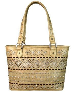Montana West Women's Beige Crystal Studded Handbag Tote, Beige/khaki, hi-res