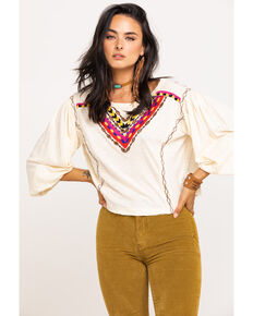Free People Women's Hand Me Down Top, Ivory, hi-res