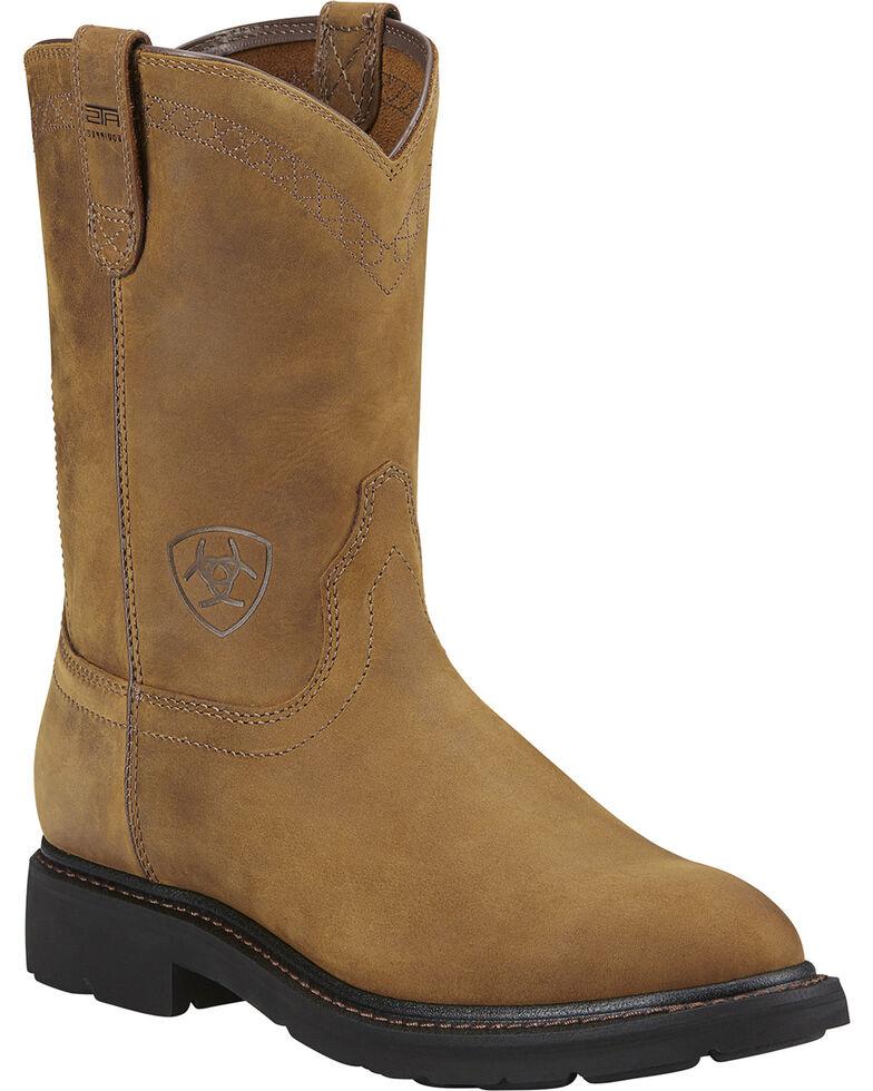 Ariat Men's Sierra Western Work Boots, Aged Bark, hi-res