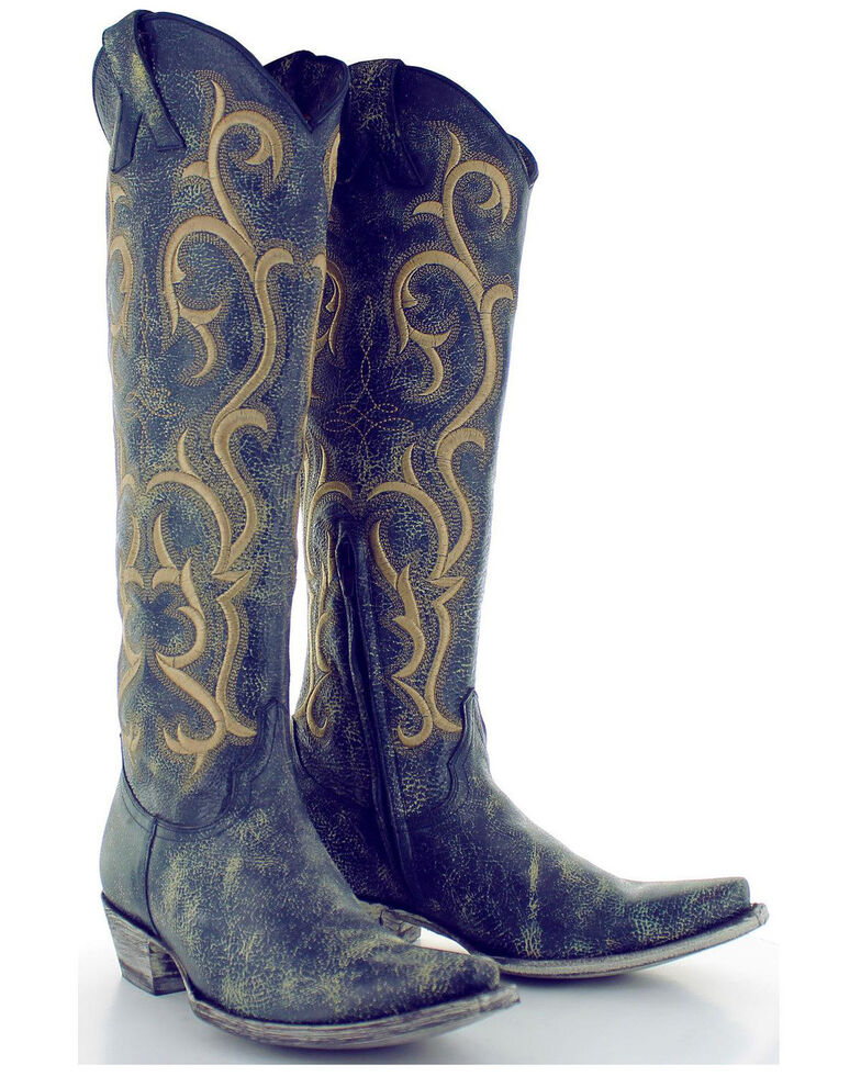 0371a4bcd74 Old Gringo Women's Blue Dolly Mayra Tall Boots - Snip Toe - Country ...