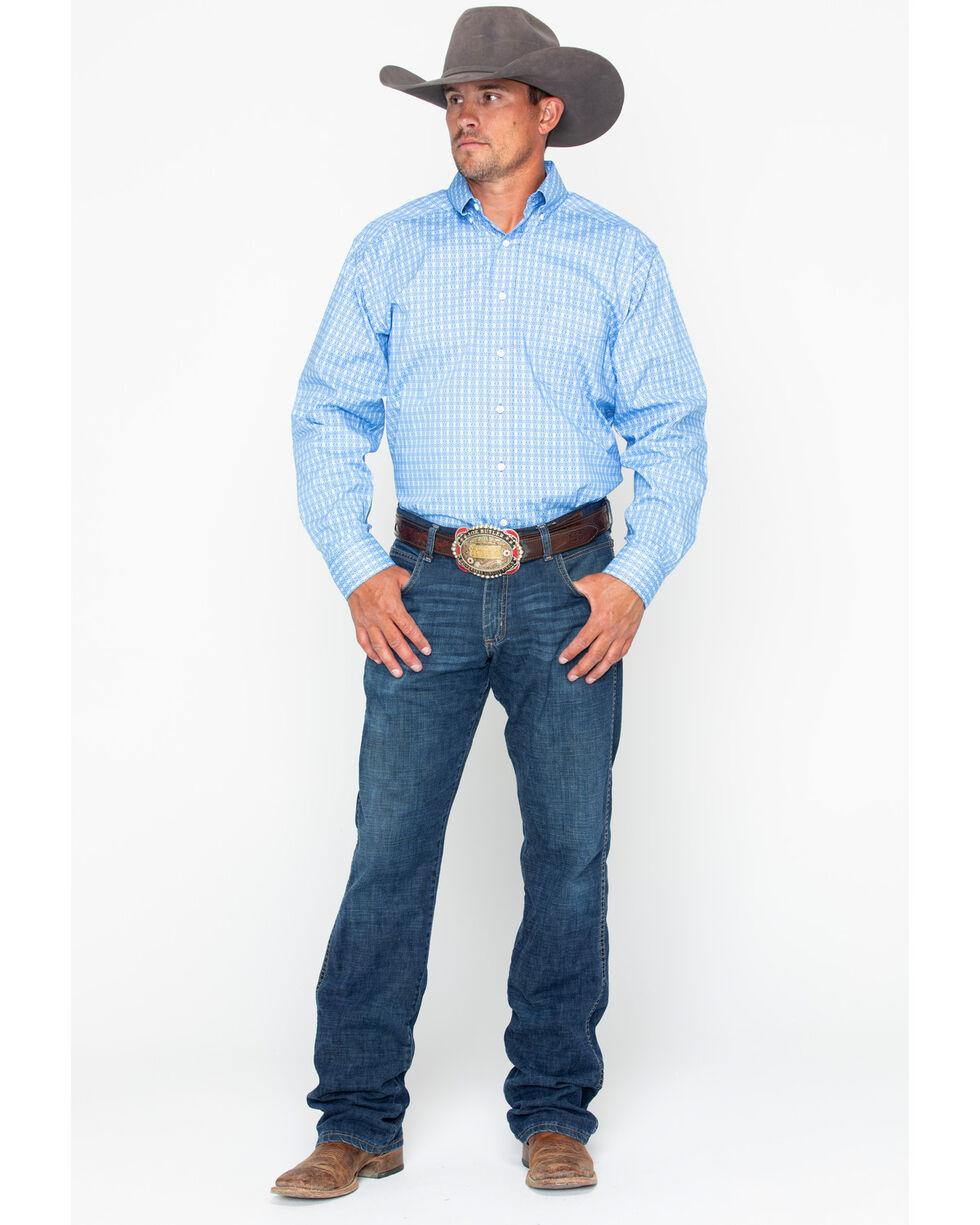 Tuf Cooper Men's Competition Stretch Poplin Long Sleeve Shirt, Blue, hi-res