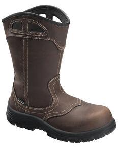Avenger Women's Framer Waterproof Western Work Boots - Composite Toe, Brown, hi-res