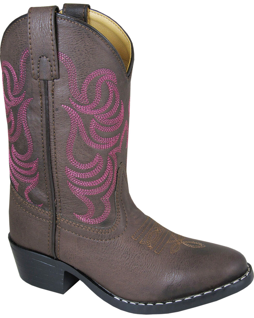 Smoky Mountain Girls' Monterey Western Boots - Round Toe , Brown, hi-res