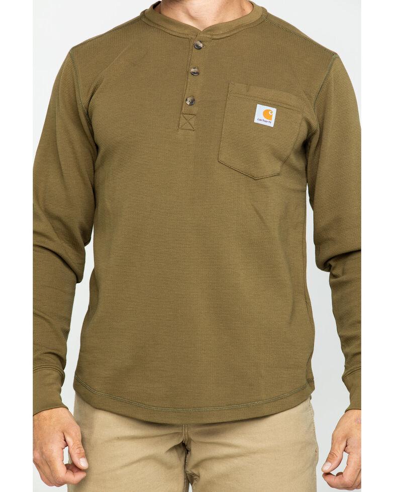 Carhartt Men's Tilden Long-Sleeve Henley Tee , Olive, hi-res