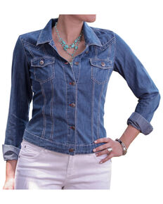 Ryan Michael Women's Denim Jean Jacket, Denim, hi-res