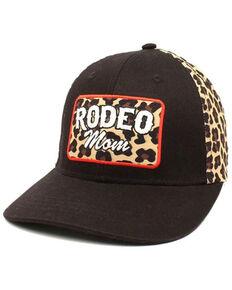 Ariat Women's Rodeo Print Cheetah Print Patch Ball Cap , Black, hi-res