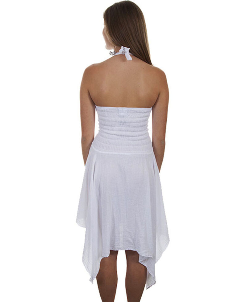 Cantina by Scully Women's White Halter Strap Dress, White, hi-res