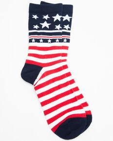 Shyanne Women's Stars & Stripes Crew Socks, Multi, hi-res