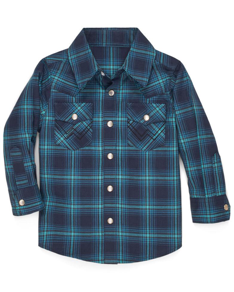 Wrangler Toddler Boys' Multi Plaid Long Sleeve Western Shirt , Multi, hi-res