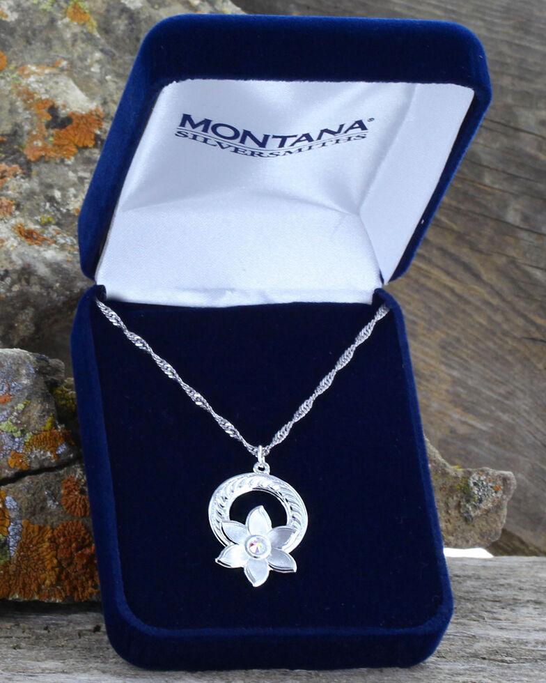 Montana Silversmiths Women's Silver Flower Garland Necklace , Silver, hi-res