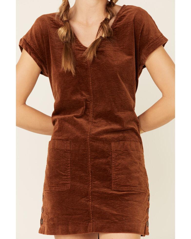 Wishlist Women's Corduroy Button Dress, Tan, hi-res