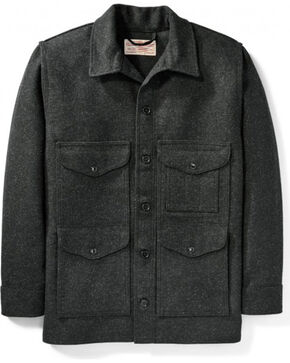 Filson Men's Charcoal Mackinaw Wool Cruiser Jacket, Charcoal, hi-res