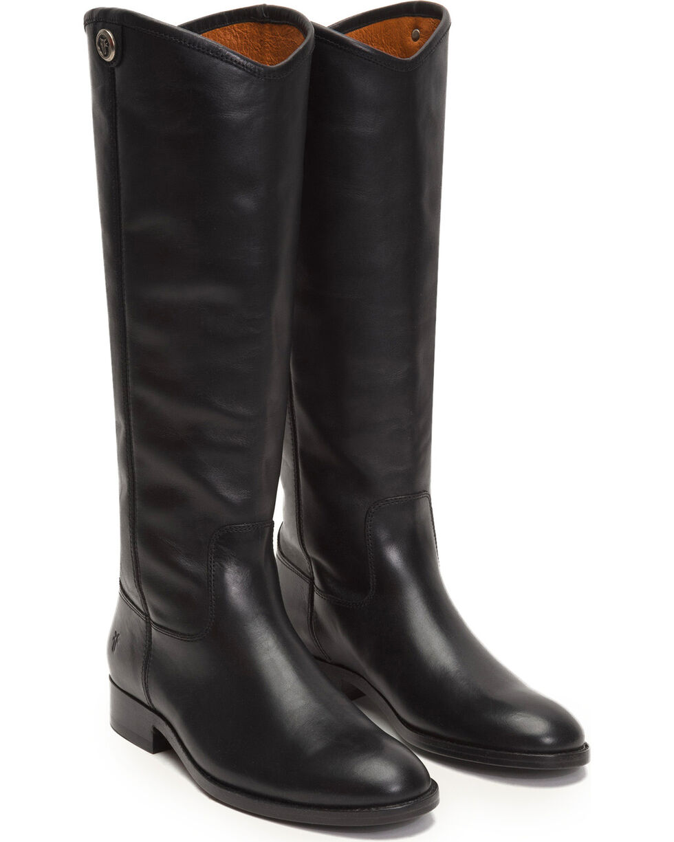 Frye Women's Black Melissa Button 2 Tall Boots - Round Toe , Black, hi-res