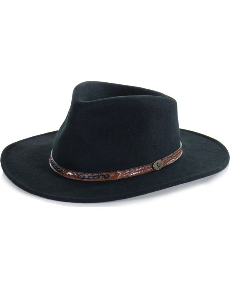 Cody James® Men's Durango Crush Wool Hat, Black, hi-res