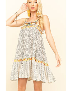 Free People Women's Borderline Tank Dress , Ivory, hi-res