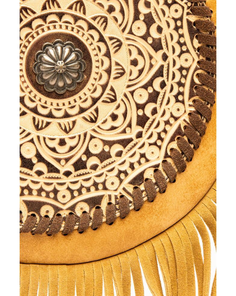 Shyanne Women's Concho Fringe Crossbody, Beige/khaki, hi-res