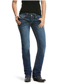 Ariat Women's Ivy Dresden Straight Leg Jeans, Blue, hi-res