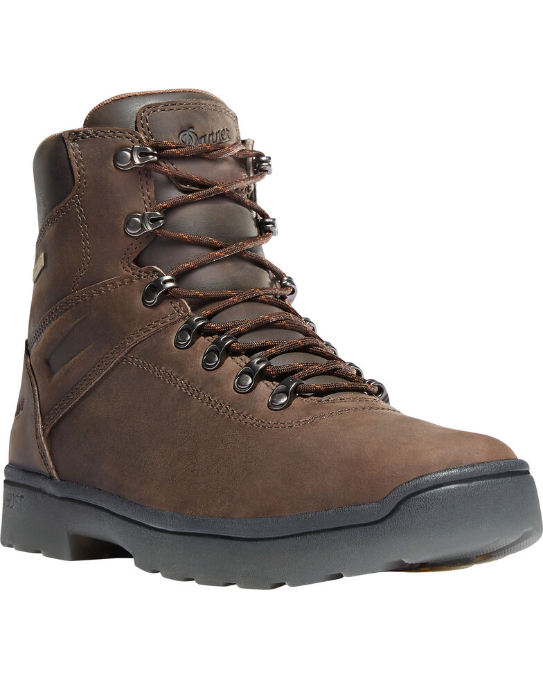 """Danner Men's Brown Ironsoft 6"""" Boots - Soft Round Toe , Brown, hi-res"""