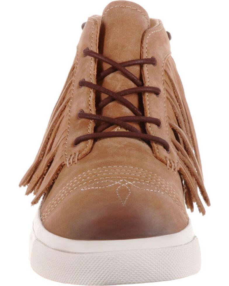 Durango Women's Brown Music City Fringe Lacer Sneakers , Brown, hi-res