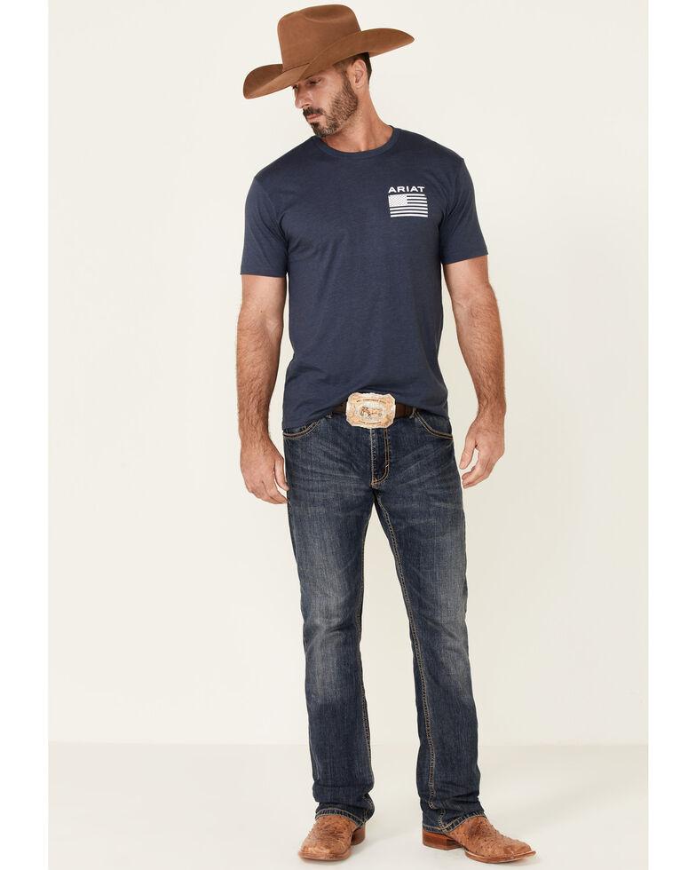 Ariat Men's Navy Freedom Graphic Short Sleeve T-Shirt , Navy, hi-res