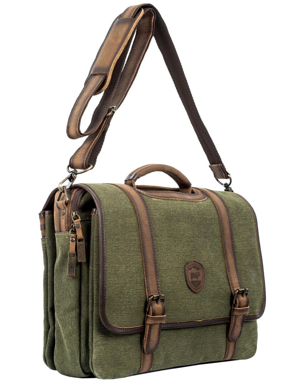 STS Ranchwear Men's Canvas Dispatch Case, Olive, hi-res