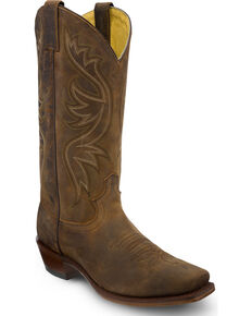 Justin Men's Apache Cowboy Boots - Square Toe, Brown, hi-res