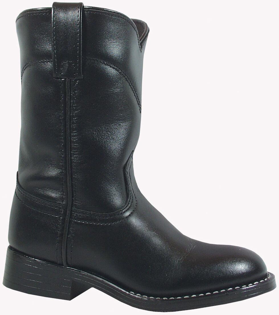 Smoky Mountain Boys' Roper Western Boots - Round Toe, Black, hi-res