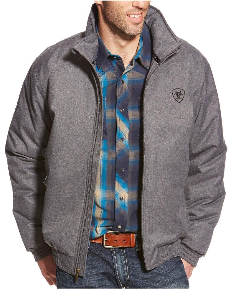 Ariat Men's Team Logo Jacket, Grey, hi-res