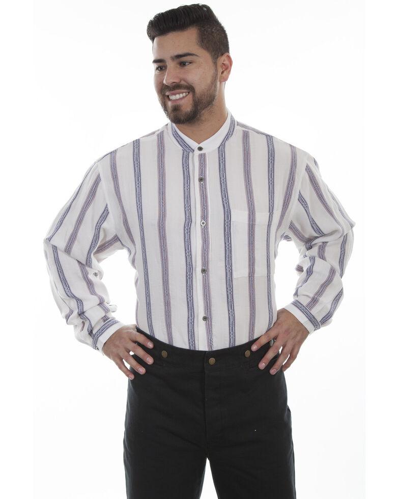 Scully Men's Dobby Stripe Ivory Shirt, Ivory, hi-res