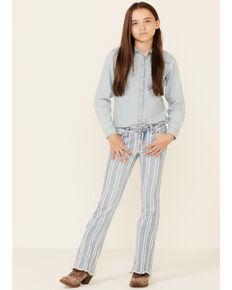 Rock & Roll Denim Girls' Multi Striped Print Trouser Jeans , Multi, hi-res