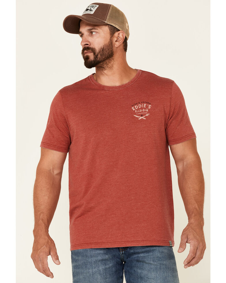 Flag & Anthem Men's Burnout Red Eddies BBQ Graphic Short Sleeve T-Shirt , Red, hi-res