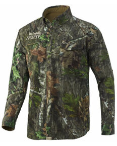 Nomad Men's Obsession Mossy Oak Camo Print Pursuit Long Sleeve Hunting Shirt , Camouflage, hi-res