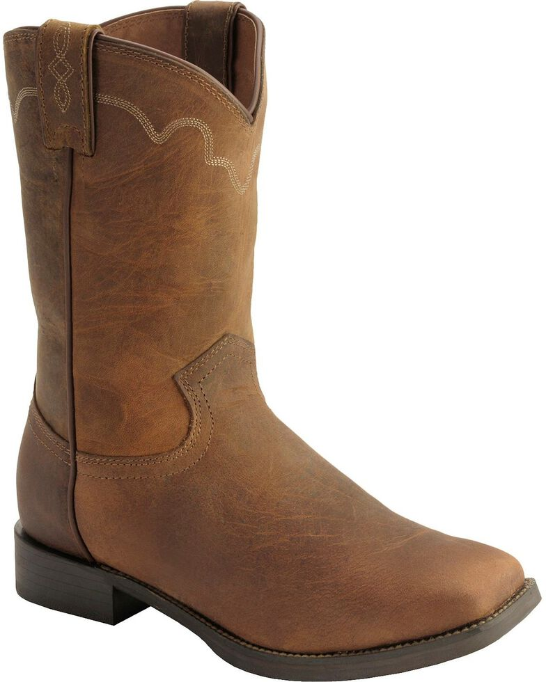 Justin Stampede Roper Cowboy Boots - Square Toe - Country Outfitter 3aad0c0aad2