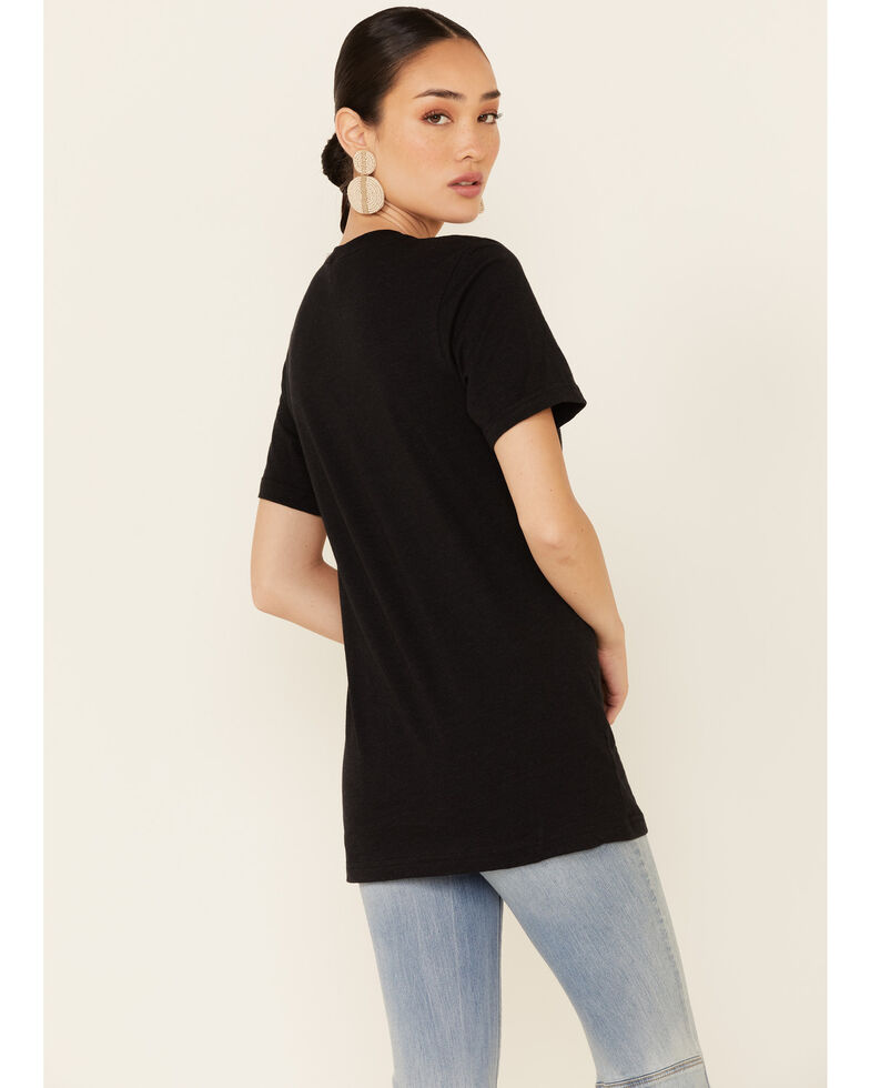 Ali Dee Women's Give Me My Space Cowboy Graphic Short Sleeve Tee , Black, hi-res
