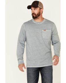 Pendleton Men's Dusted Teal Deschutes Long Sleeve Pocket T-Shirt , Teal, hi-res