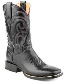 Roper Men's Parker Western Boots - Square Toe, Black, hi-res
